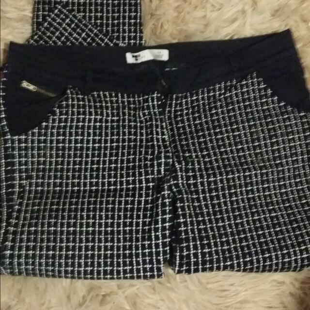 Black And White Pants Size 14