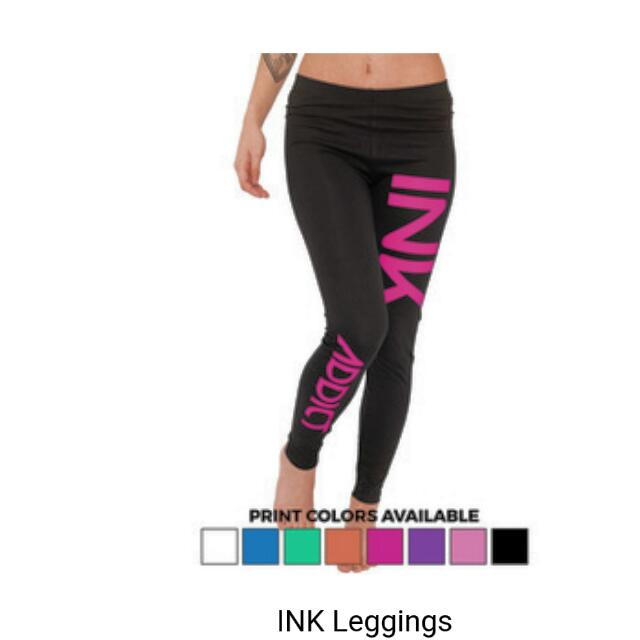 BNWT  INK ADDICT TIGHTS light Pink