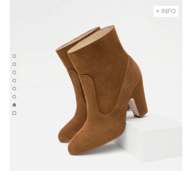Brand New ZARA Genuine Leather Ankle Boots (Size 9)