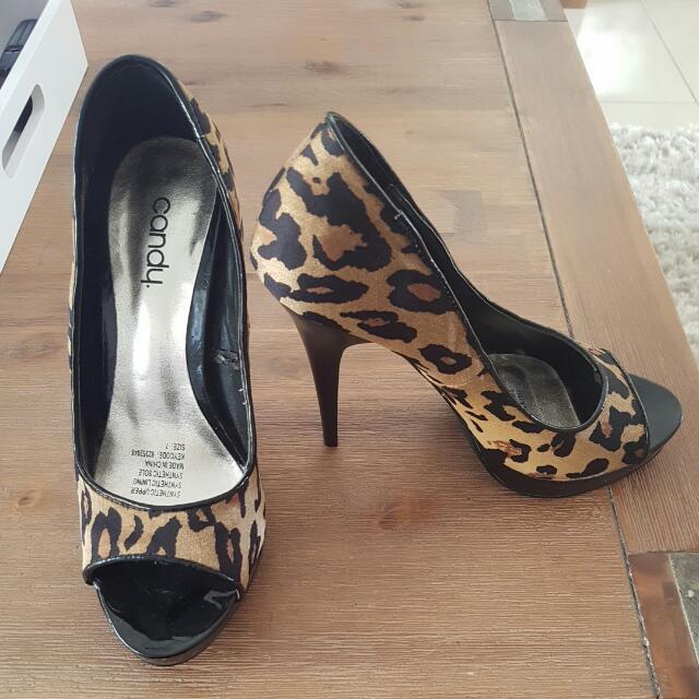 Candy Leopard Print Heels