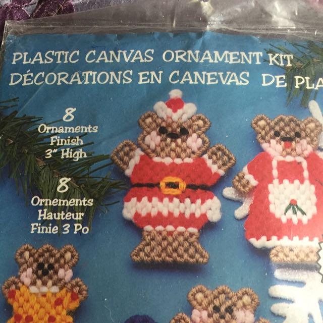 Christmas Needlepoint Ornament Kit.