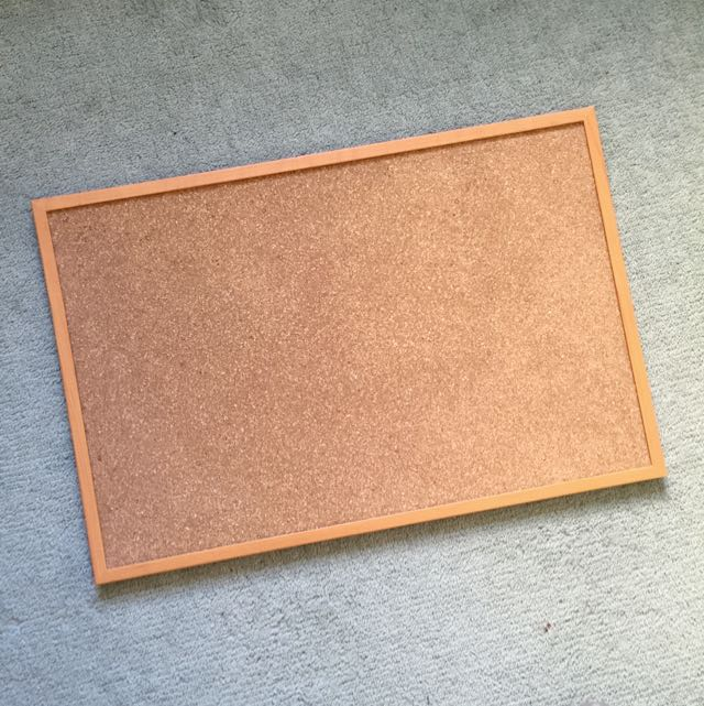 wide corkboard