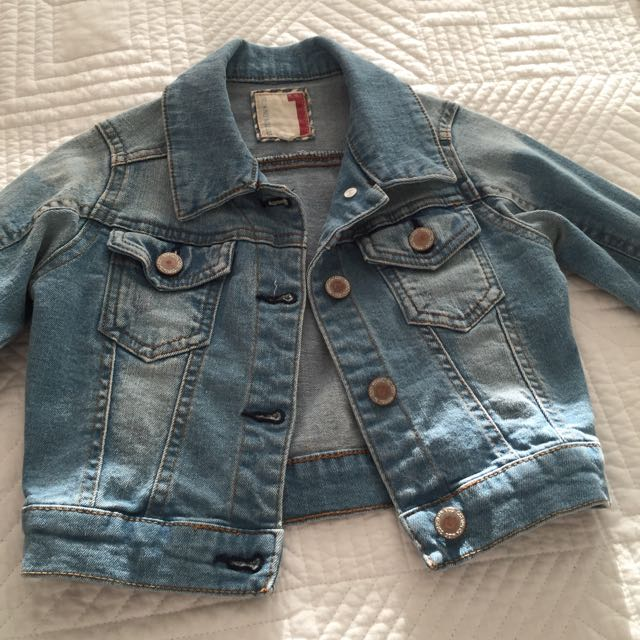 Cotton On Girls Denim Jacket Size 1 Worn Once!!!