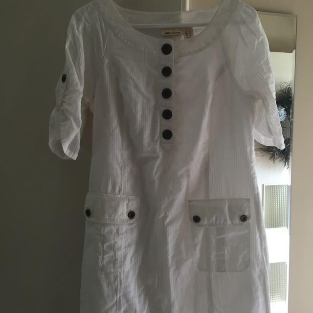 DKNY White Dress