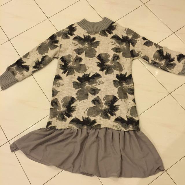 Floral Turtleneck Sweater
