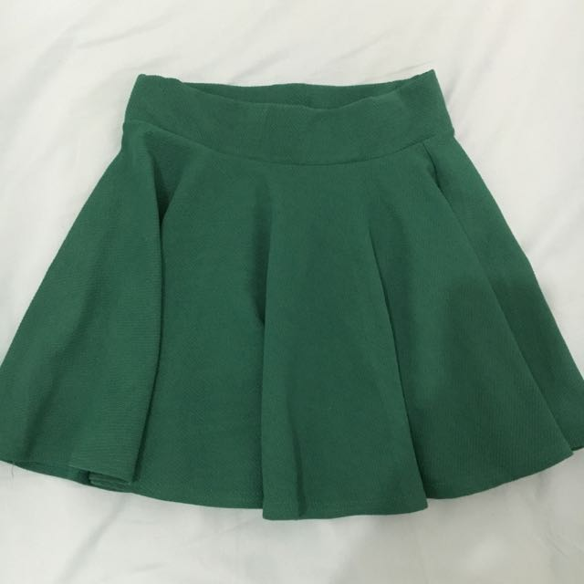 Forest Green Circle Skirt