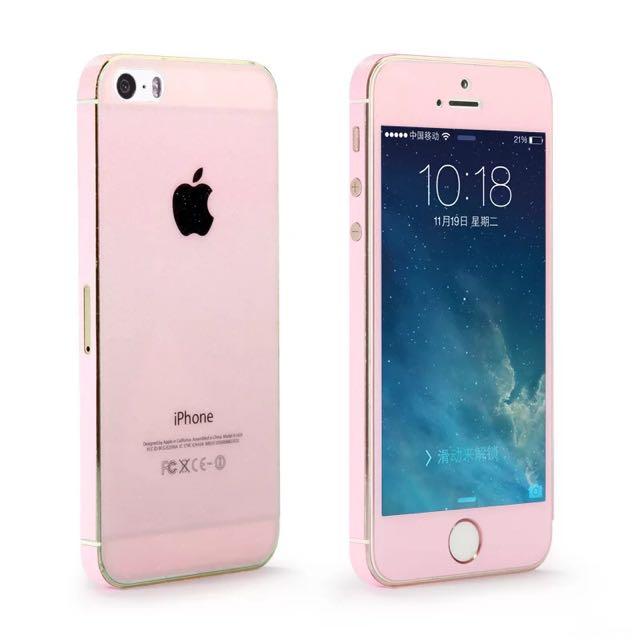 I Phone 5/5s/SE 前後鋼化玻璃膜