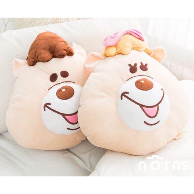 ✨全新✨KUMATAN 臉型靠枕 #wc熊