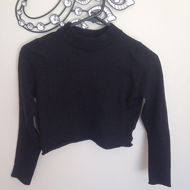Ladies Wool Long Sleeve Crop