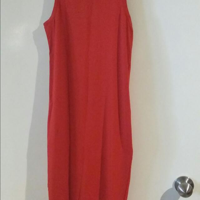 Long Red Dress Size S