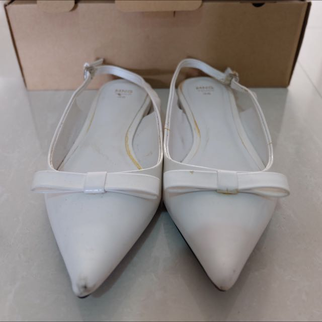 Mango Touch Flats In White