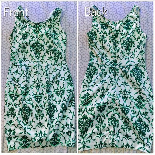 Mint Green Floral Wiggle Dress
