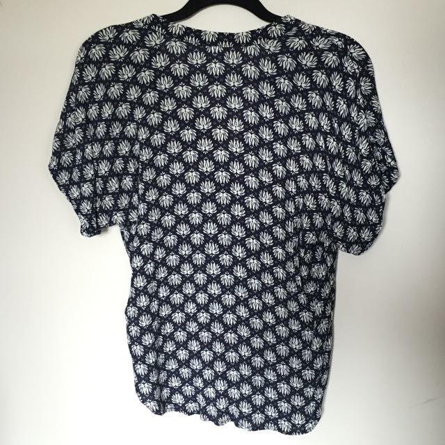 Navy Patterned Top