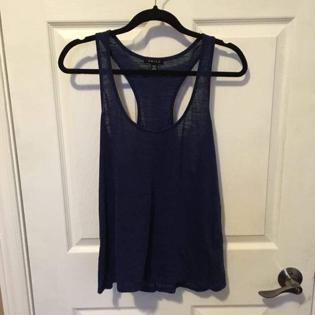 Navy Racer back Top