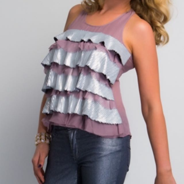 New 2016 Seven Souls Designer Frilly Summer Top BNWT