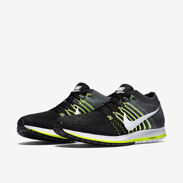 8d0bfe2fb1812 Nike Air Zoom Flyknit Streak 6 (Women) - Black Dark Grey Volt White ...