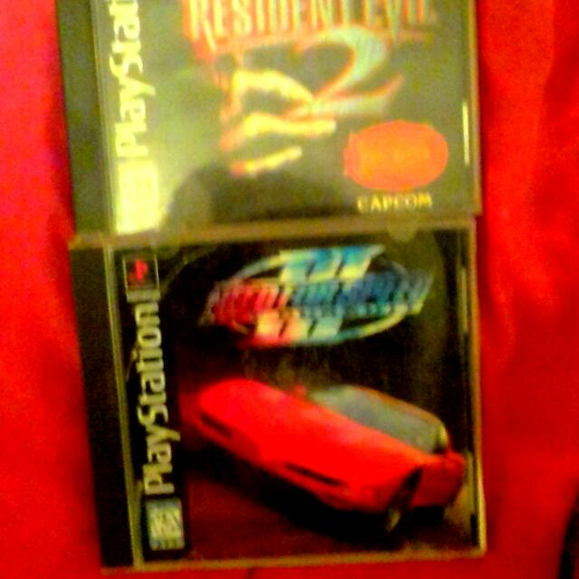 Original Playstation Games Resident Evil2 & Ned For Speed Hot Pursuit (Best Pics I Can Get On My Phone)
