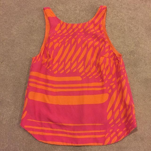 Pink And Orange Kookai Top
