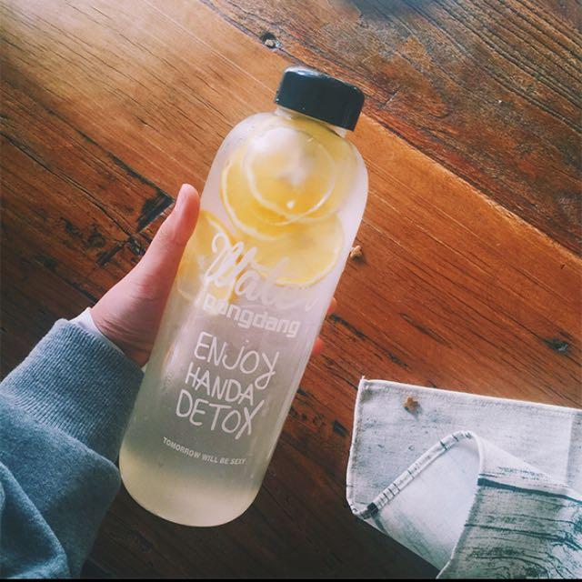 【全新現貨】韓Pongdang Water玻璃杯 水壺[加贈帆布杯套/750ml]