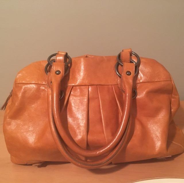 Pumpkin Genuine Leather Purse