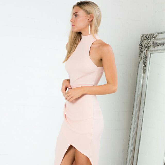 Showpo Up Top Dress In Pale Pink
