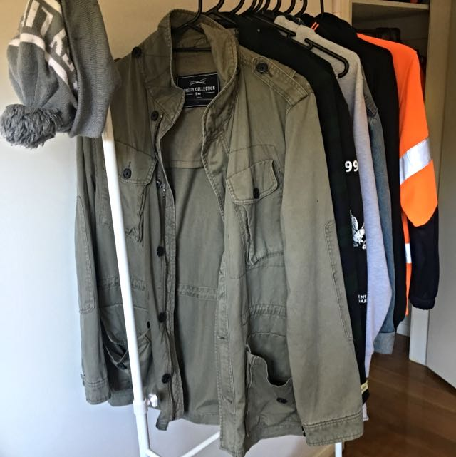 TBar Green Khaki Parker Jacket