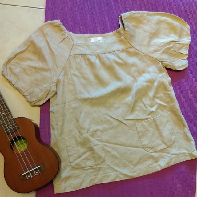 Te'chichi日本森林系女孩公主袖口袋衫