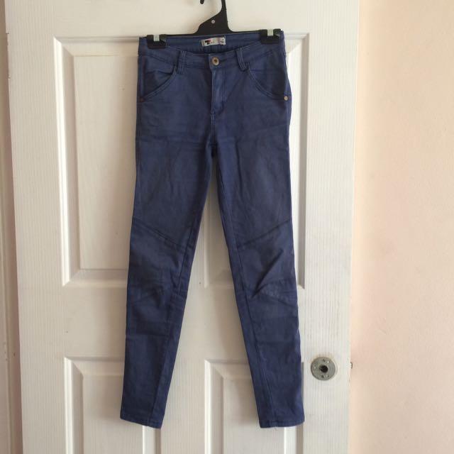 Tempt Blue Skinny Pants