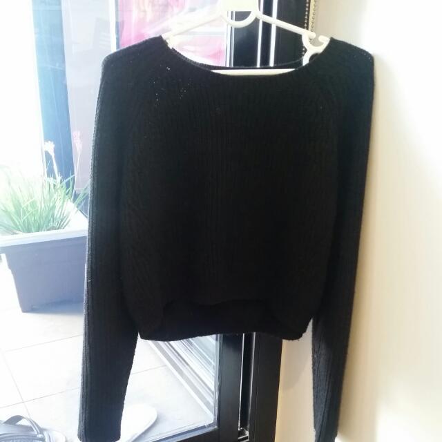 TOPSHOP black knitted jumper
