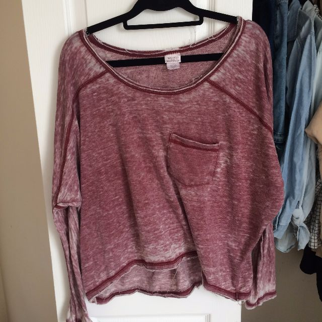 Urban Outfitters Red Longsleeve top