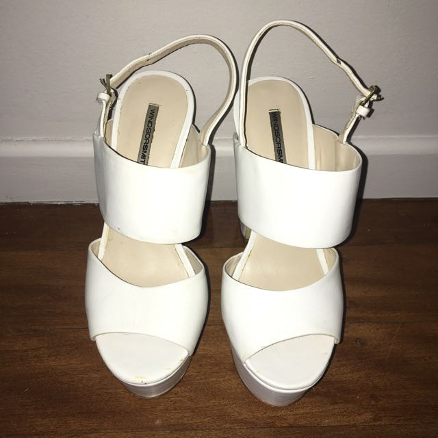 Windsor Smith Used White Chunky Heel 7.5