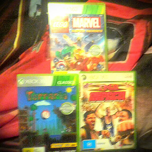 Xbox 360 Games, Terraria, TNA Impact And Marvel Super Heroes.