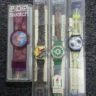 4 SWATCH watches
