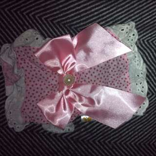 Pink Polka dot Dress With Bow