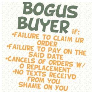 Bogus Buyer!!! JOY RESERVER