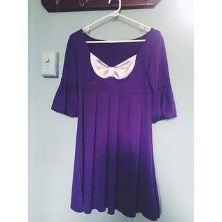 Purple Evening Dress Size 10-12