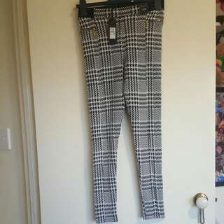 River Island - Black dogtooth print leggings
