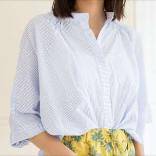 Oversized Light Blue Top