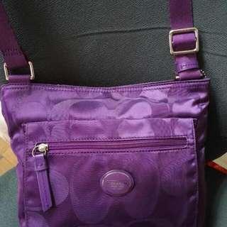 Coach Purple Body Bag..original