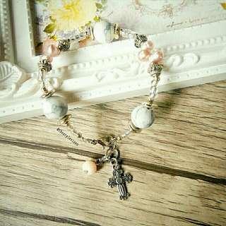 Elegant Pearl Rosary Bracelet
