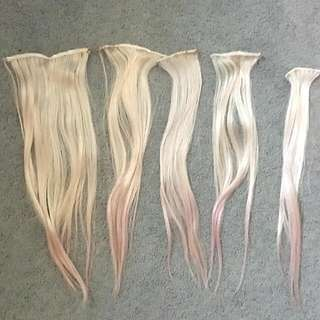 Silver Real hair Weave Extensions