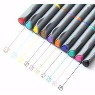 【現貨】繽紛10色彩色簽字筆
