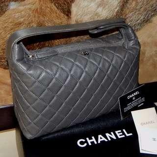 CHANEL quilted riviera mini dark grey SHW bag (2013)