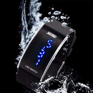 Jam LED Gelang SKMEI Silicon Wristband LED Watch Water Resistant 30m