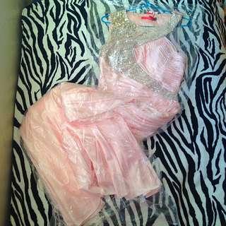 Pink Silk Formal Dress