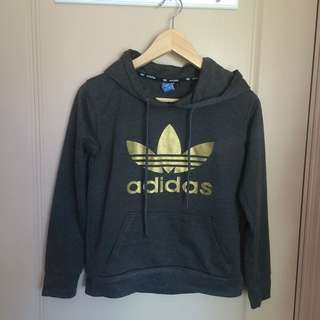 Thin Adidas Hooded Jumper