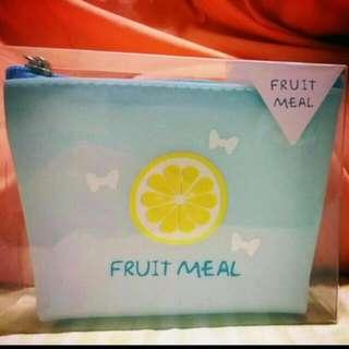 🚚 水果 梯形 零錢包 果凍矽膠材質