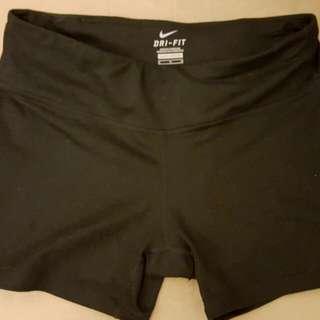 Nike Dri Fit Black Tight Shorts Size M