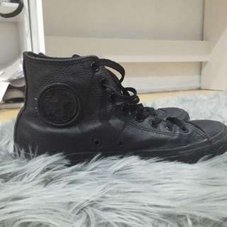 Leather High Top Converses
