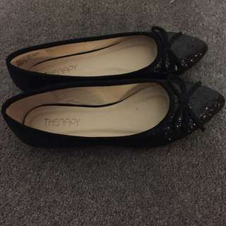 Therapy Black Flats - Never Worn Size 6
